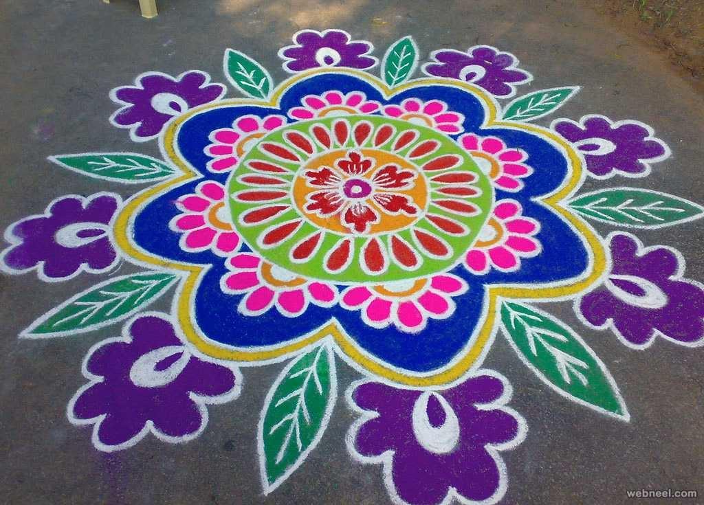 25 Beautiful Pongal Kolam And Rangoli Designs On Competition