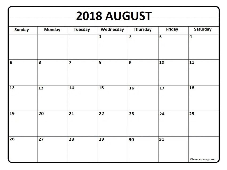 August 2018 Calendar * August 2018 Calendar Printable with Printable Calendar August 2018 Free - yspages.com