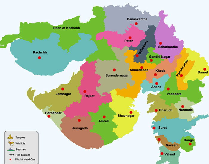 Download Gujarat Map Printable 2018 Printable Calendars