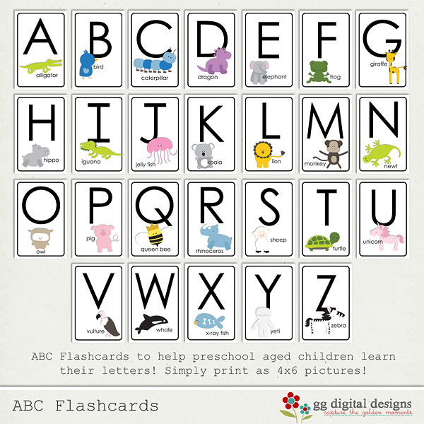 Printable alphabet flash cards a2z download free for Flash cards alphabet letters